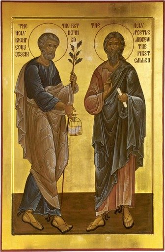 Saint Joseph The Righteous and Saint Andrew The First Called Apostle